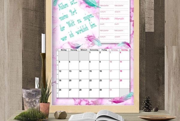 Nähkalender August 2019 von Glitzerpüppi