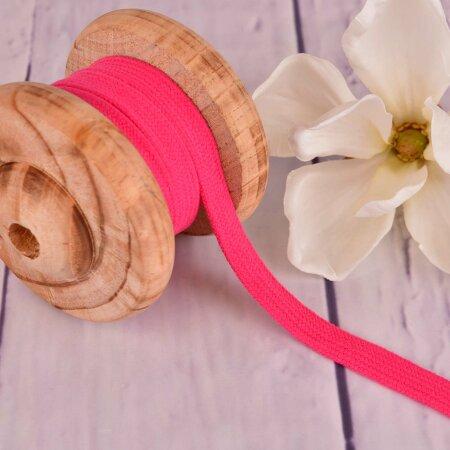 Flache Baumwoll Kordel Hoodieband Pink 15mm