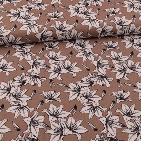 Canvas Lily Flower Sand