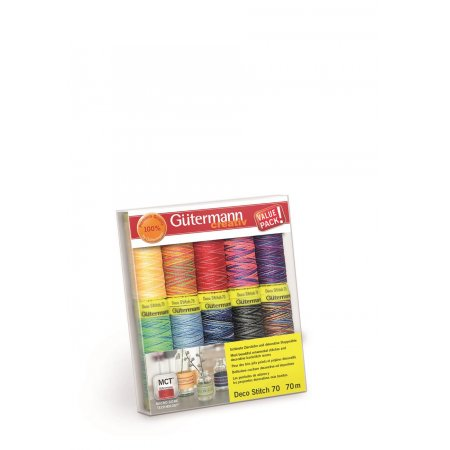 Gütermann Nähfaden-Set Deco Stitch 70m x 10